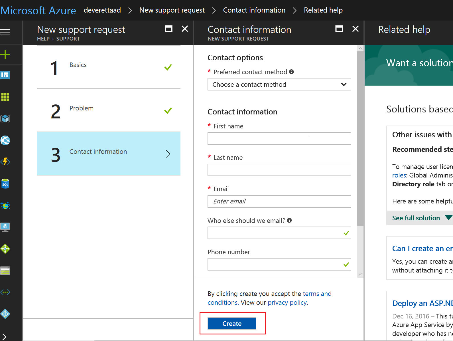How to get support for azure active directory microsoft docs how to open a support ticket for azure ad in the azure portal 1betcityfo Image collections