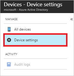 Configure device settings