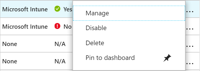 Manage an Intune device