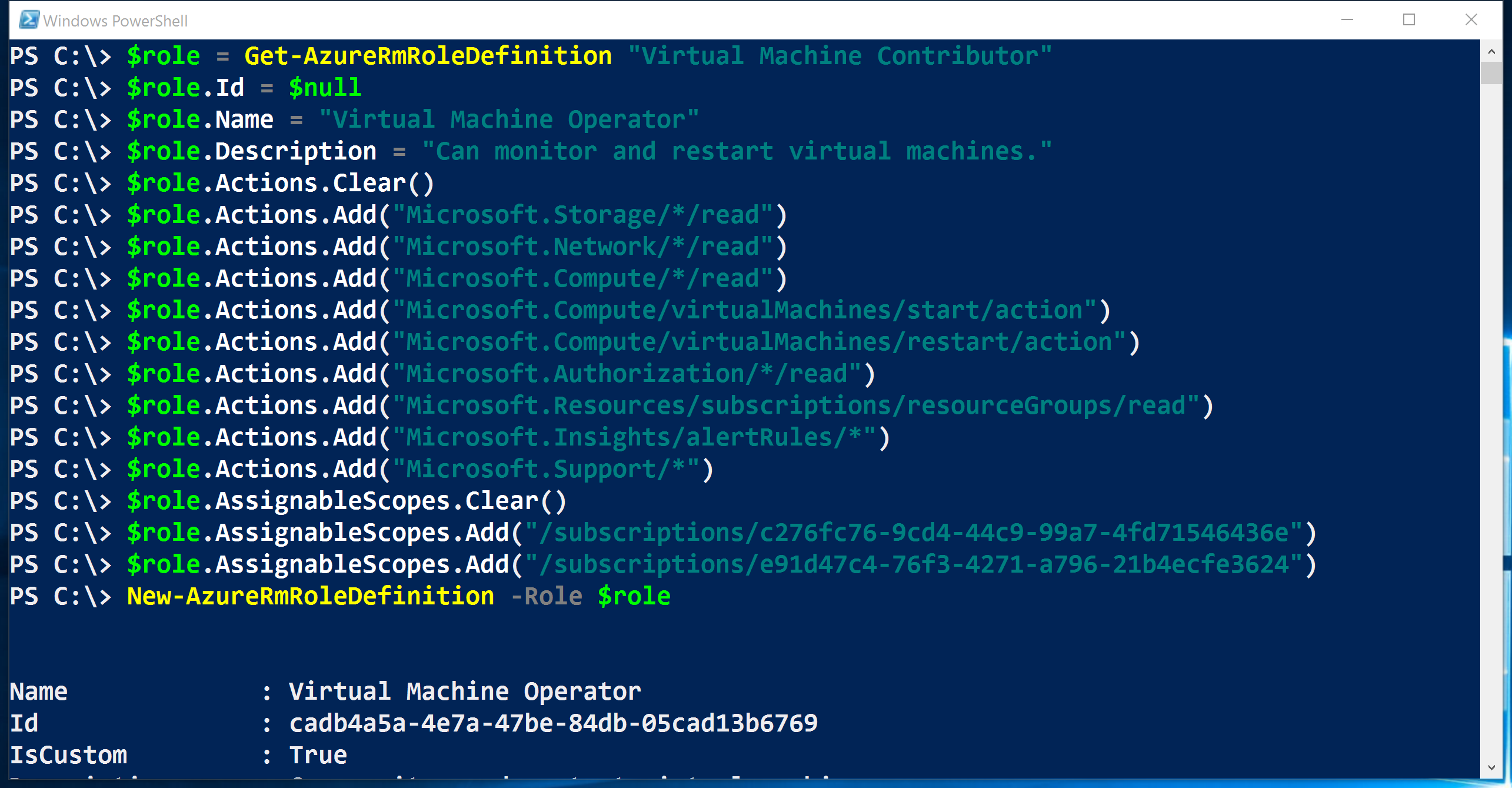 Manage Role-Based Access Control (RBAC) with Azure PowerShell ...