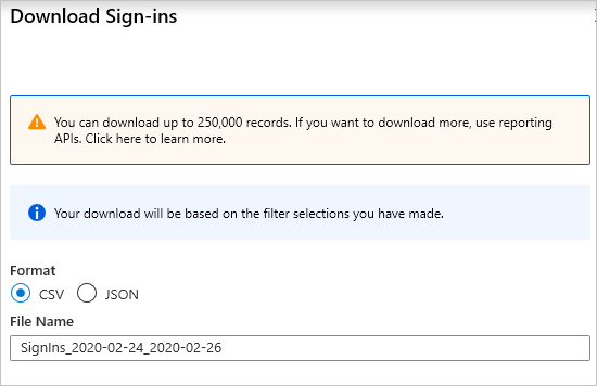 Sign-in activity reports in the Azure Active Directory portal