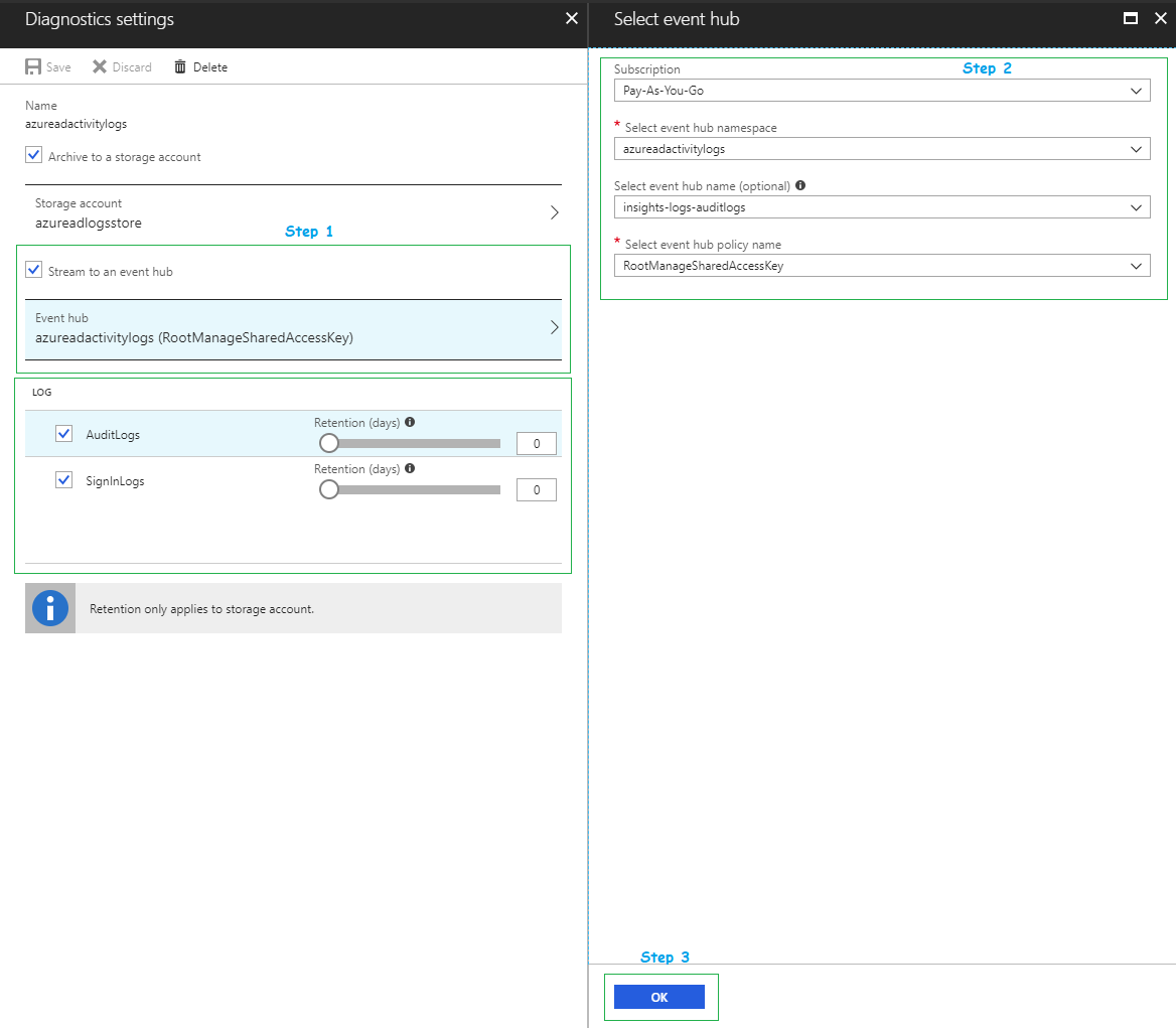Tutorial - Stream Azure Active Directory logs to an Azure