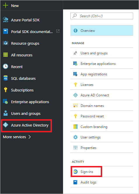 Sign-in activity report error codes in the Azure Active Directory
