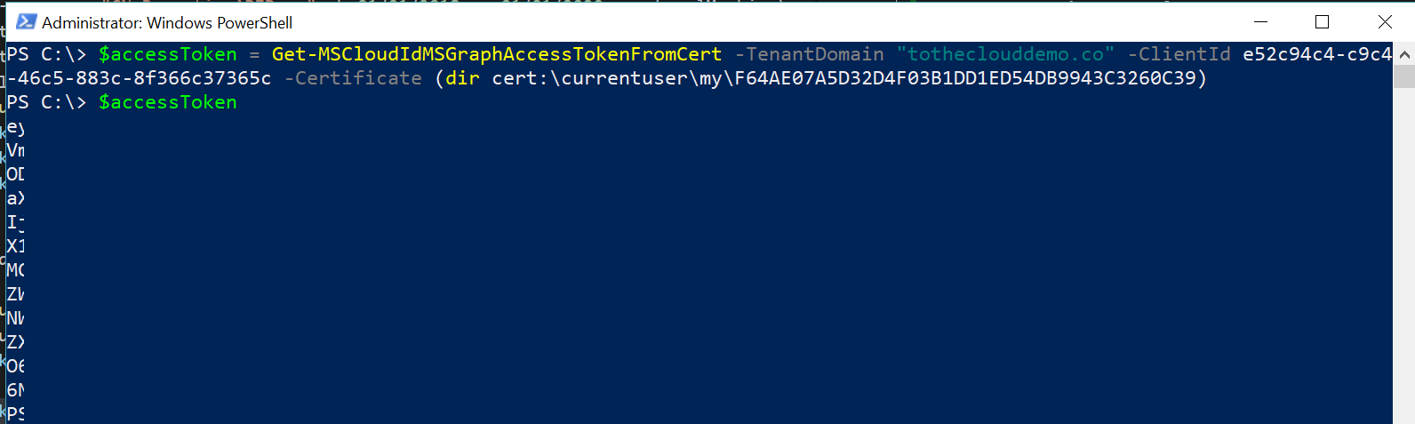 Tutorial Get data using the Azure AD Reporting API with