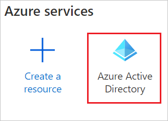 The Azure Active Directory button
