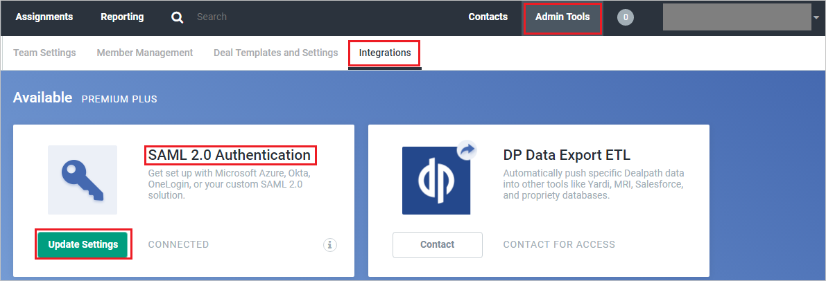 Tutorial: Azure Active Directory integration with Dealpath
