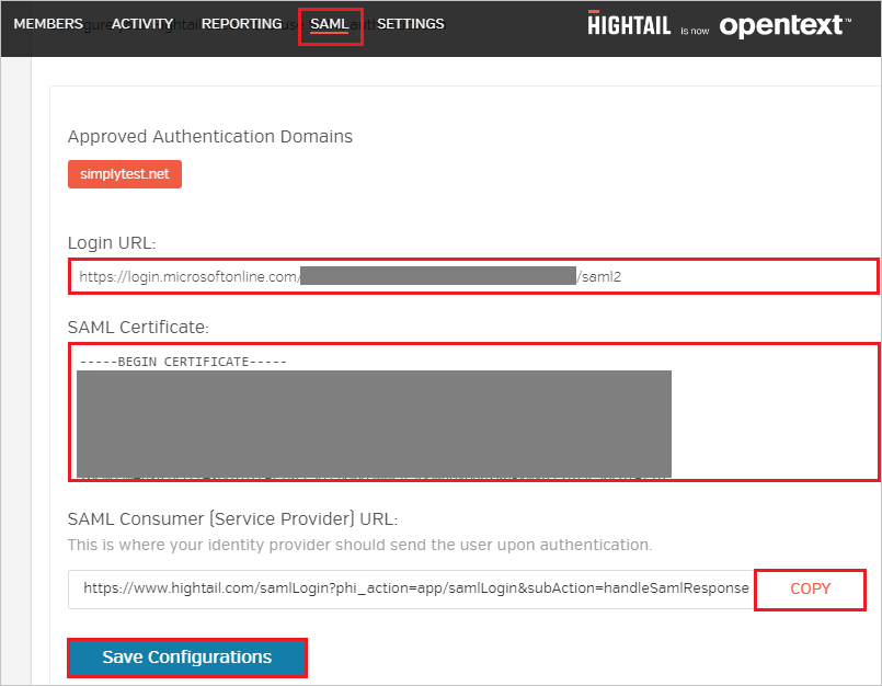 Tutorial: Azure Active Directory integration with Hightail
