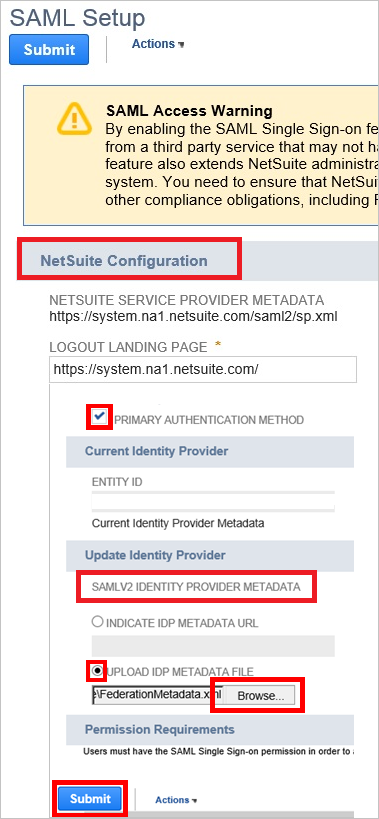 Tutorial: Azure Active Directory integration with NetSuite
