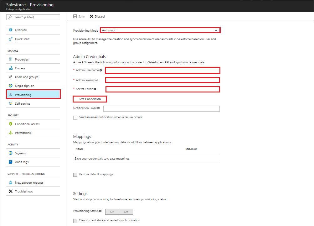Tutorial: Configure Salesforce for automatic user