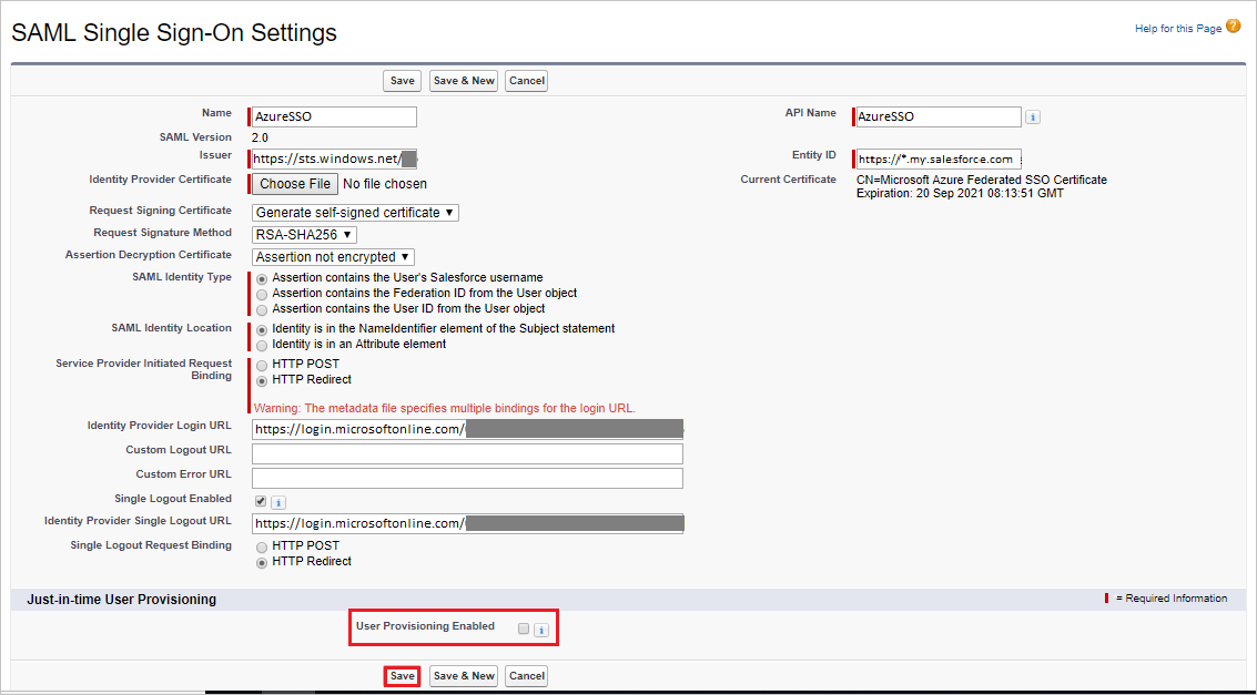 Tutorial: Azure Active Directory integration with Salesforce