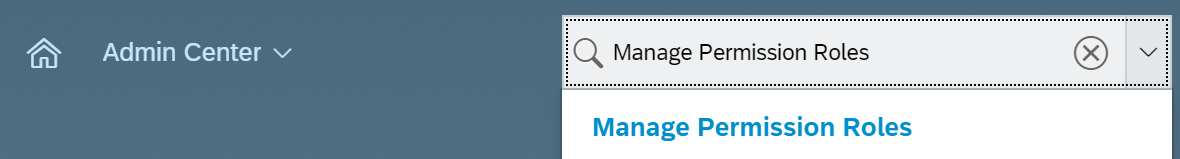 Manage Permission Roles