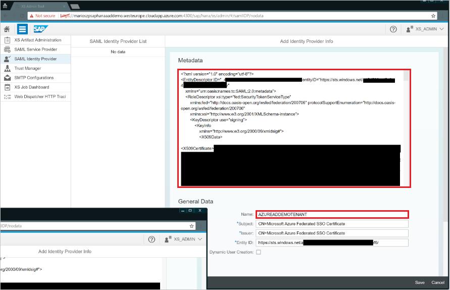 Tutorial: Azure Active Directory integration with SAP HANA