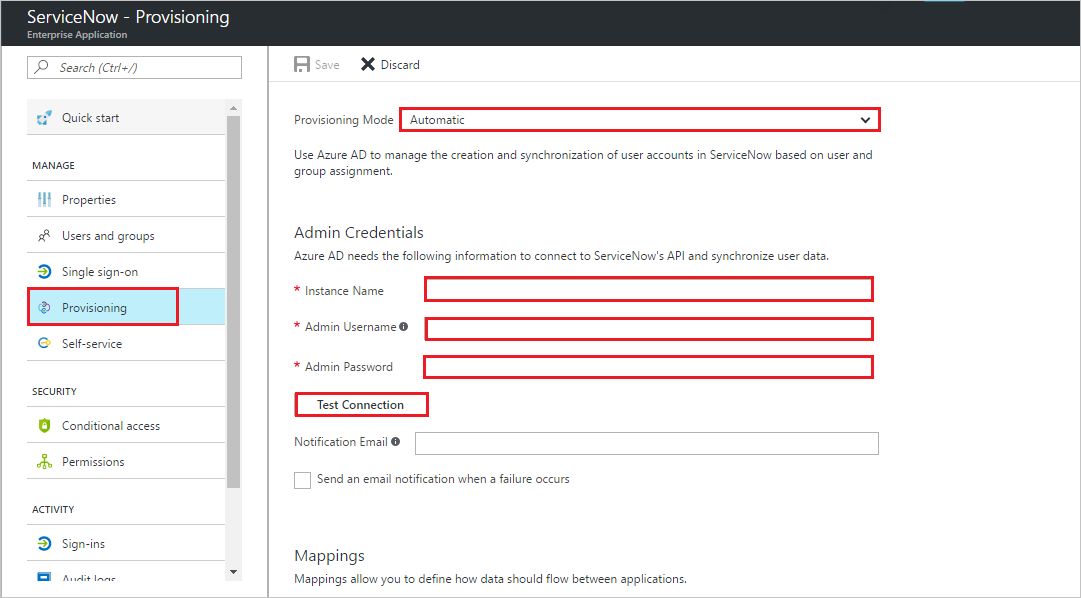 Tutorial: Configure ServiceNow for automatic user provisioning with