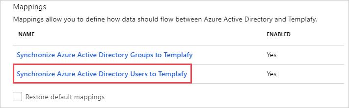 Templafy SAML2 User Mappings