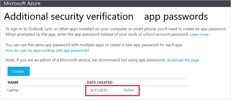 microsoft app password generator