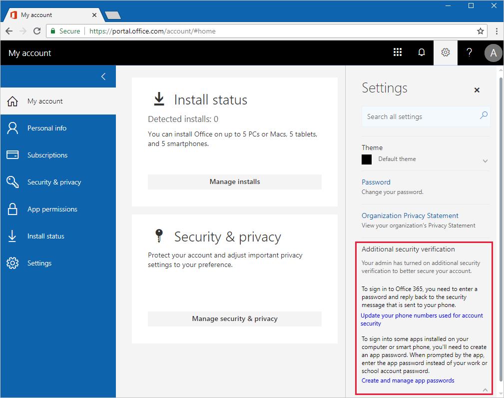 How to manage app passwords - Azure Active Directory | Microsoft Docs