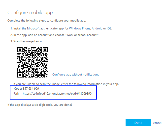 Manually add an account to the app - Azure Active Directory