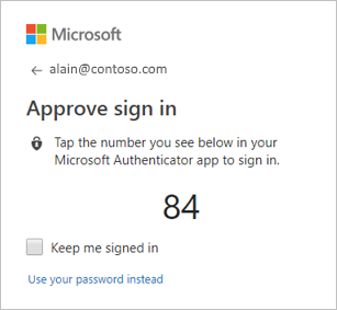 Approve sign-in box on computer