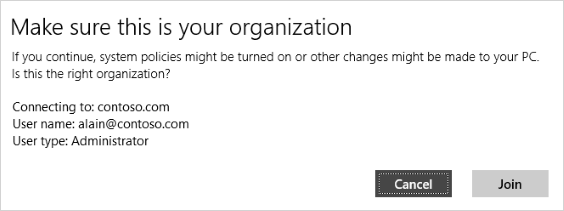 Make sure this is your organization verification screen