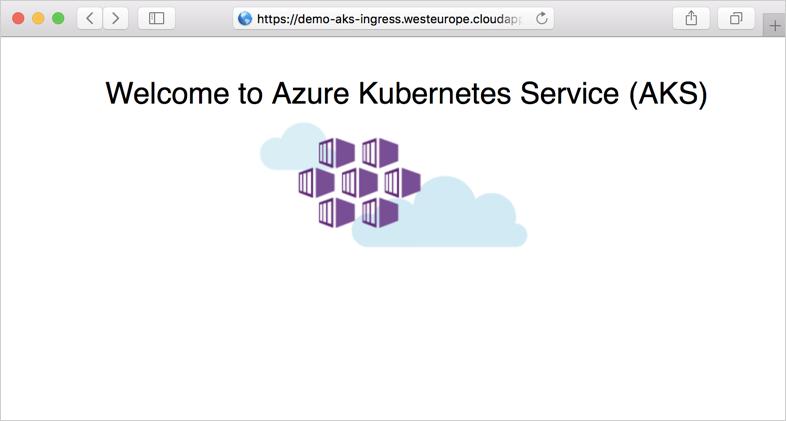 Create an HTTPS ingress with Azure Kubernetes Service (AKS) cluster