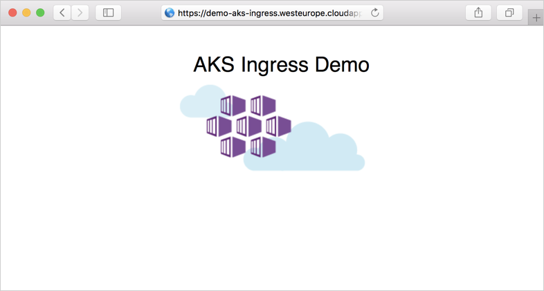 Create an HTTPS ingress with Azure Kubernetes Service (AKS) cluster
