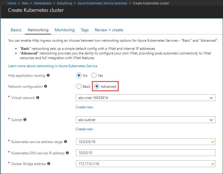 Configure Azure CNI networking in Azure Kubernetes Service