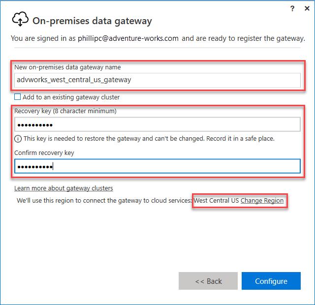 data gateway lost recovery key