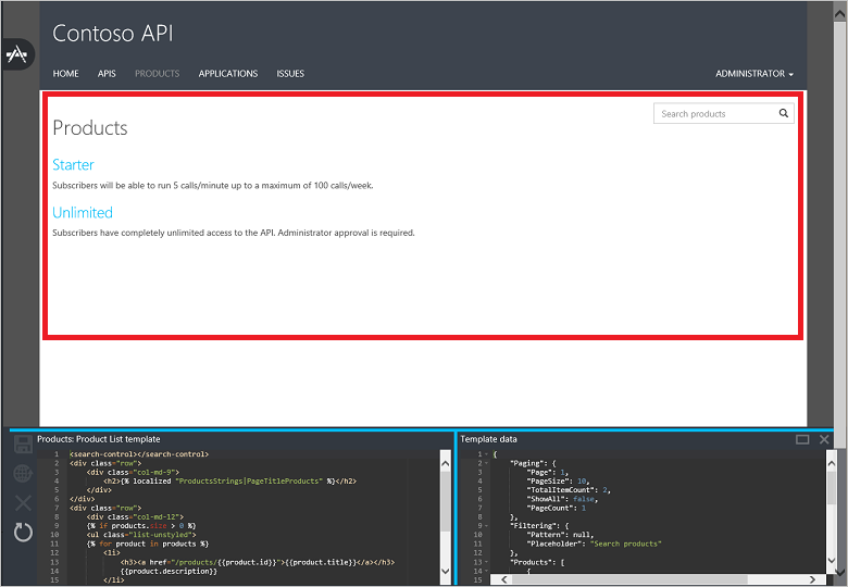 Customize The Api Management Developer Portal Using Templates Azure