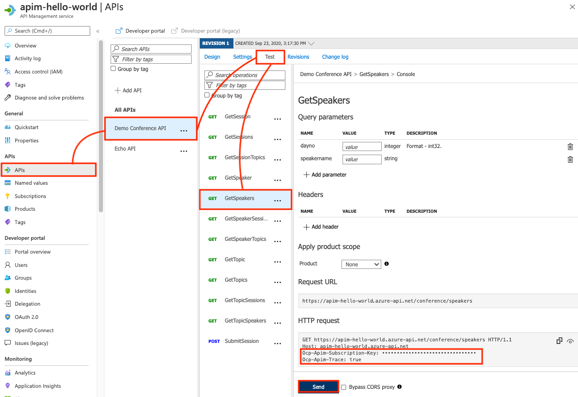 Debug your APIs using request tracing in Azure API
