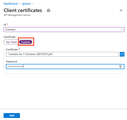 Secure back-end services using client certificate authentication ...