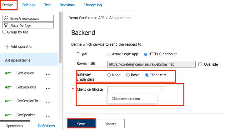 Secure back-end services using client certificate authentication