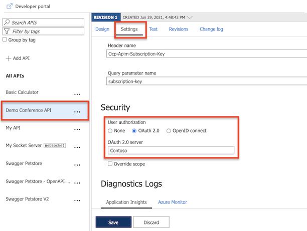 Authorize developer accounts using OAuth 2 0 in Azure API
