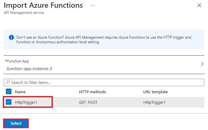 Import an Azure Function App as an API in Azure API