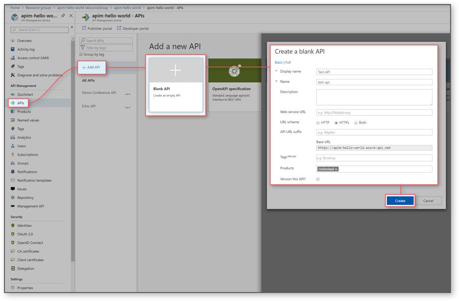 Mock API responses with the Azure portal | Microsoft Docs