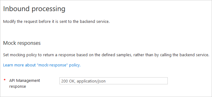 Mock API responses with the Azure portal   Microsoft Docs