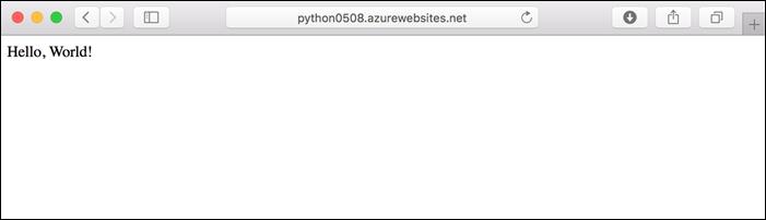 Create Python app on Linux - Azure App Service | Microsoft Docs
