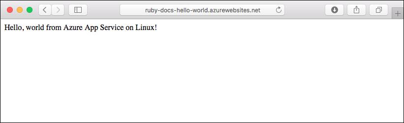 Create Ruby web app on Linux - Azure App Service | Microsoft