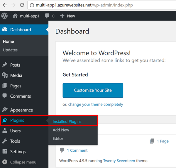 Create multi-container app in Web App for Containers - Azure