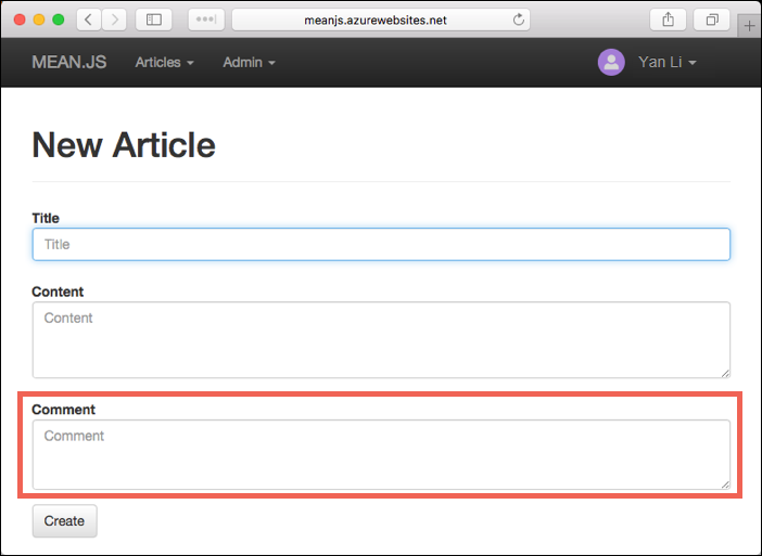 Node js (MEAN js) with MongoDB on Linux - Azure App Service