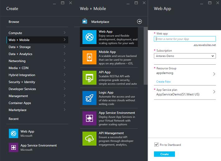 Create a web app in an App Service Environment v1 - Azure