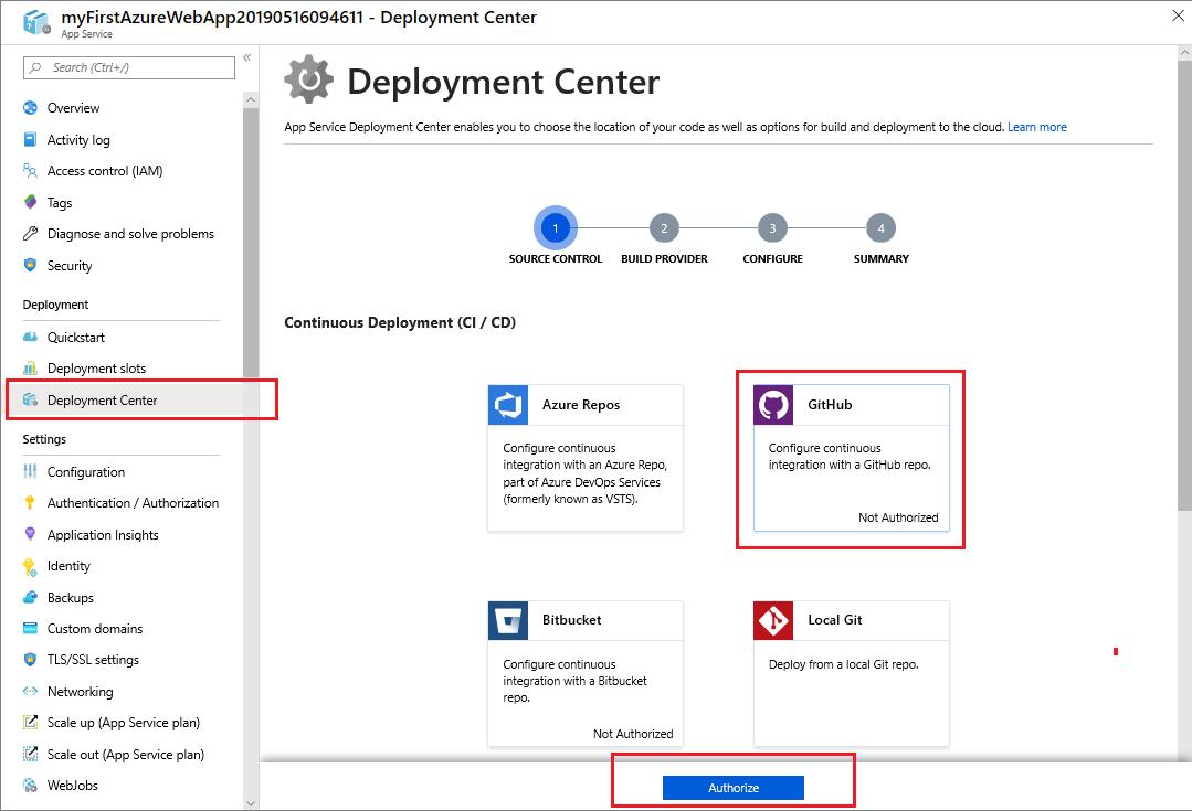 continuous deployment azure app service microsoft docs