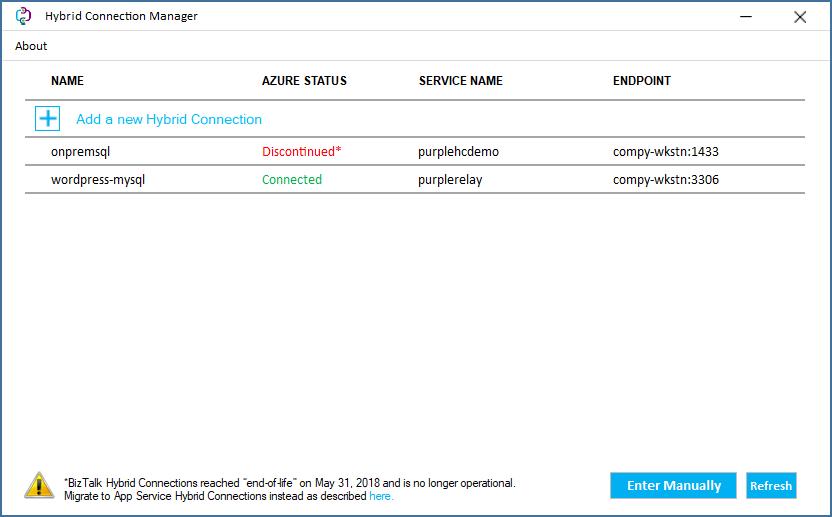 Hybrid connections - Azure App Service   Microsoft Docs