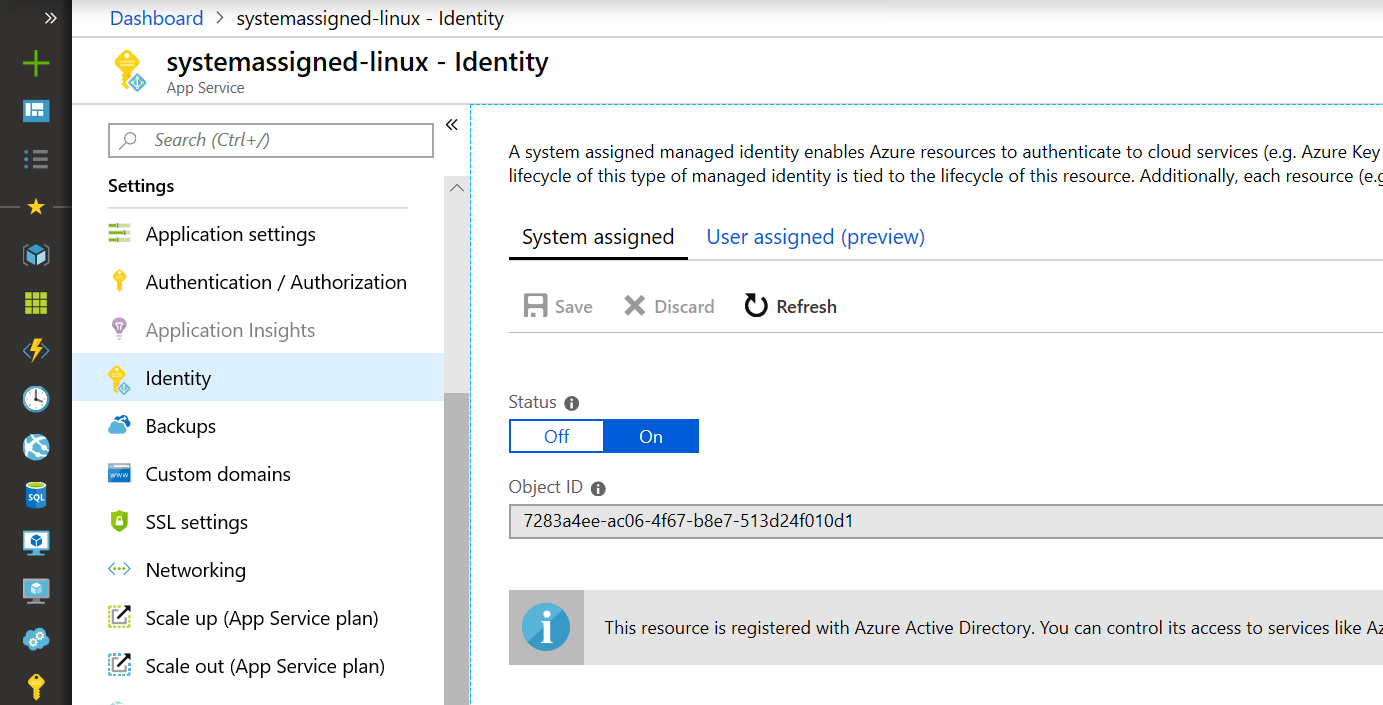 Managed identities overview - Azure App Service | Microsoft Docs