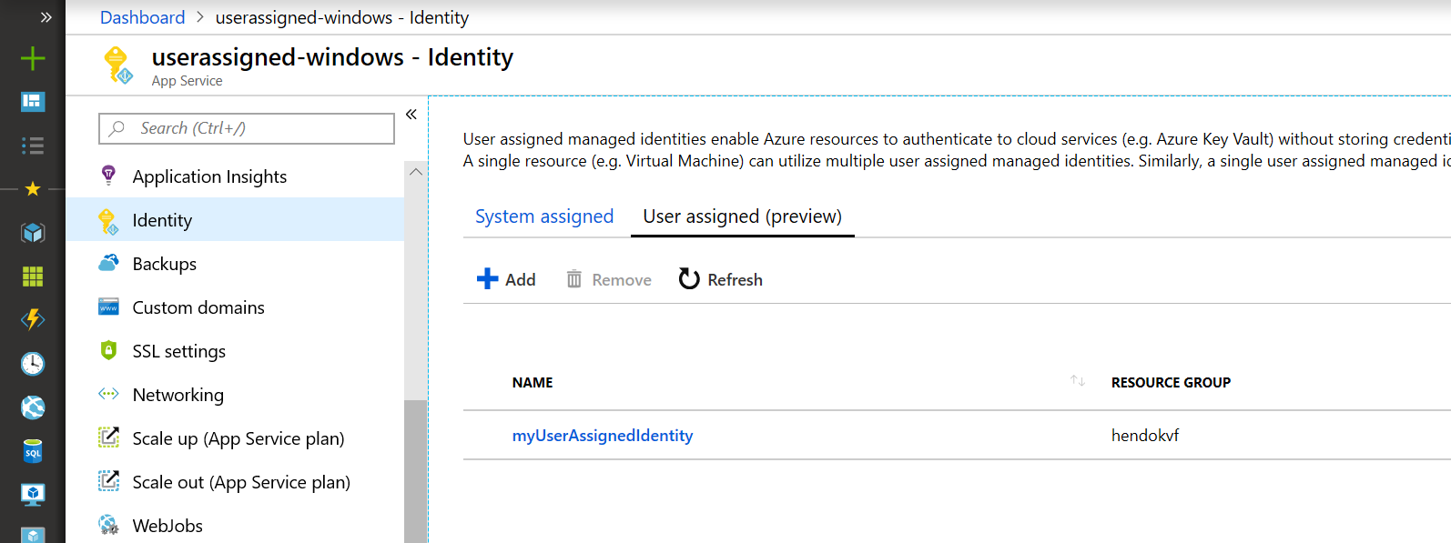 Managed identities overview - Azure App Service   Microsoft Docs