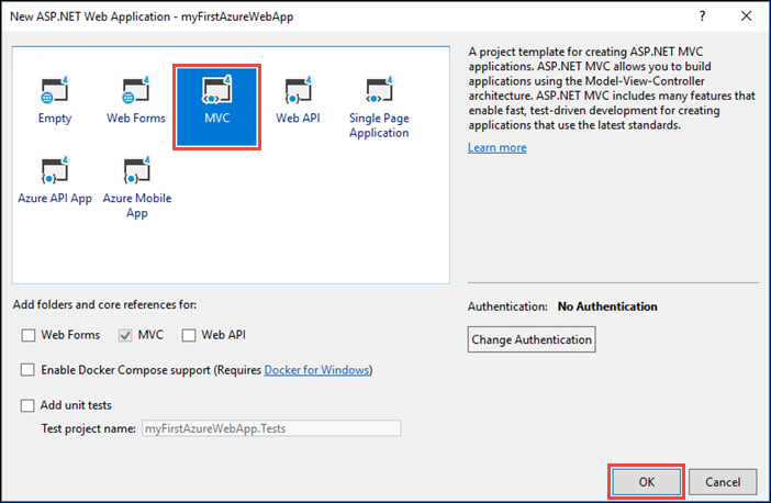 Create a c asp net framework web app in azure microsoft for Asp net menu templates