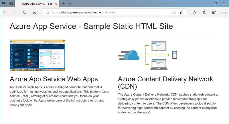 Create A Static Html Web App In Azure Microsoft Docs
