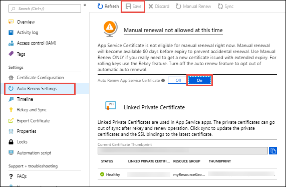 buy and configure an ssl certificate from azure app service