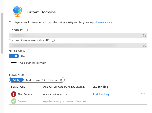 Map existing custom DNS name - Azure App Service | Microsoft