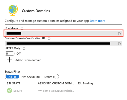 Map an existing custom DNS name to Azure Web Apps  Microsoft Docs