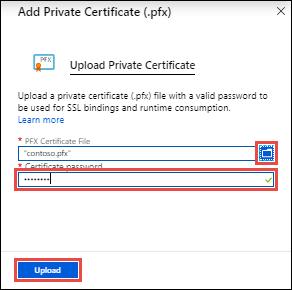 Upload and bind SSL certificate - Azure App Service | Microsoft Docs